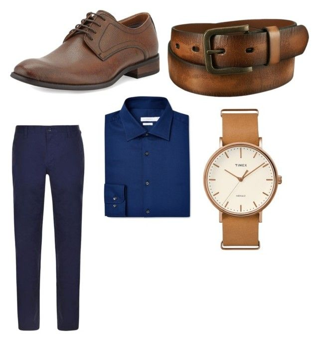 """Untitled #10"" by mihai-cosmin on Polyvore featuring DKNY, Robert Wayne, J.Lindeberg, Uniqlo, Timex, men's fashion and menswear"