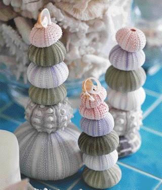 Sea urchin decorations
