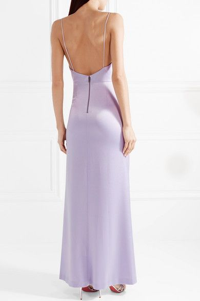 41f6a37bdce Alice Olivia - Diana Ruched Satin Maxi Dress - Lilac