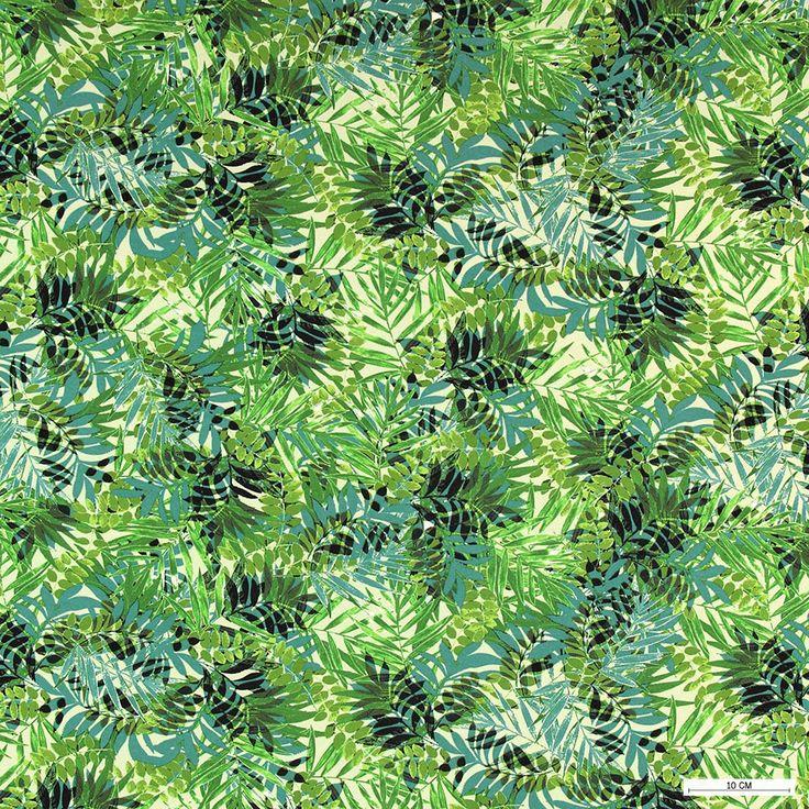 271340 Viscose jersey grøn med palmeblade