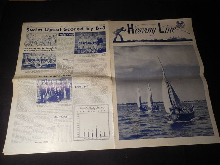 Vintage WWII July 14 1945 Heaving Line Sheepshead Bay Training Station Magazine | eBay