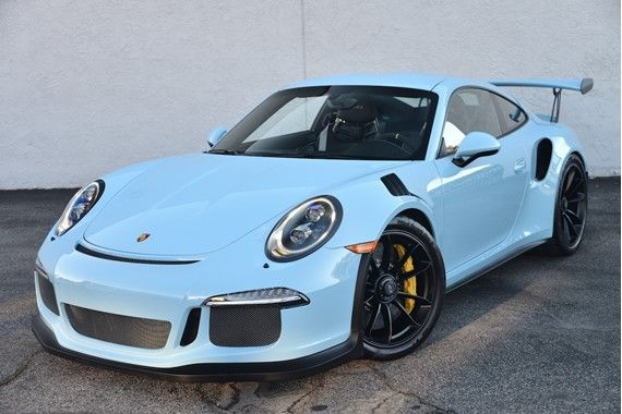 2016 Porsche 911 GT3 RS   Usually not a fan of powder/baby blue cars but THIS...