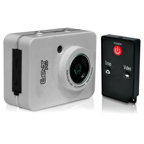 Gear Pro HD 1080P Action Camera Hi-Res Digital Camera/Camcorder with Full HD Video, 12.0 Mega Pixel Camera & 2.4'' Touch Screen (Silver Color)