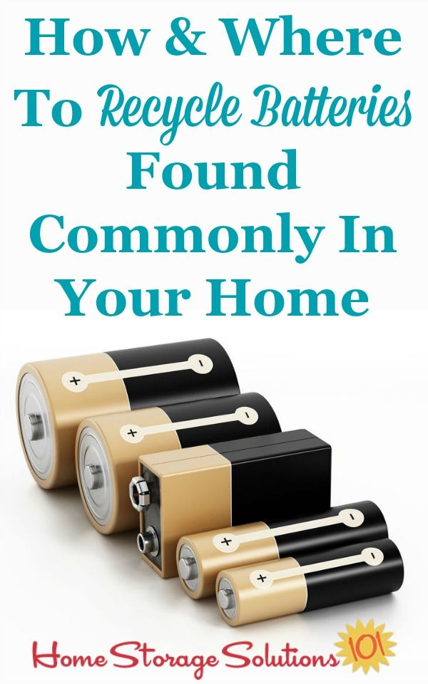Instead of throwing batteries away here's how and where to recycle batteries regularly found around your home.