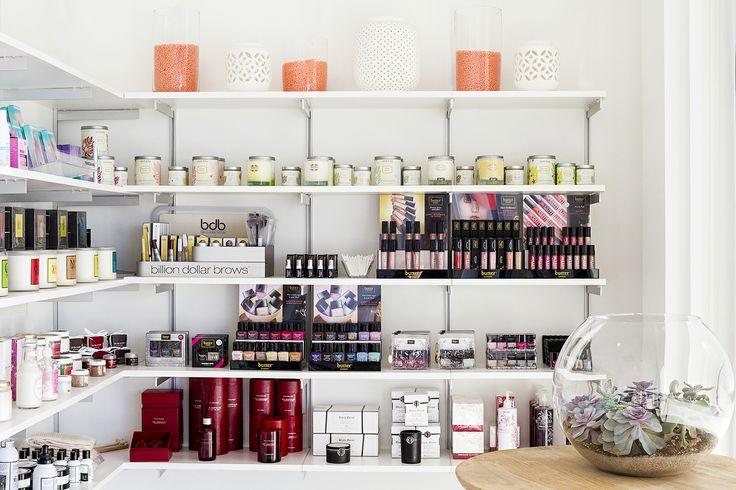 Beautiful retail. Candles, Serious Serum, Archipelago, Billion Dollar Brows, Butter London, www.urbanwaxx.com