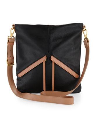 Christopher Kon Angled-Pocket Crossbody Bag, Black $225.00: Cat