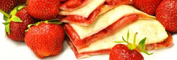 Quesadillas aux fraises -  Une délicieuse façon de savourer des fraises; entre 2 tortillas et du fromage. Une recette proposée par FraiseBec