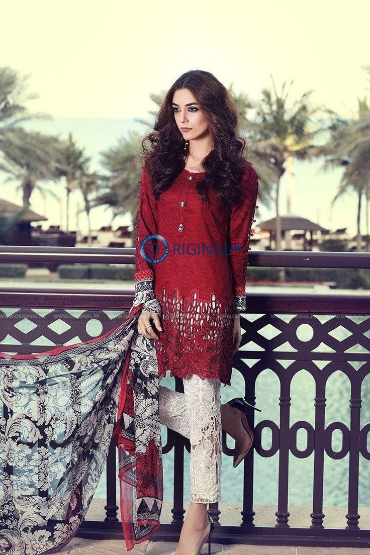 Maria B D6A Lawn 2017 Price in Pakistan famous brand online shopping, luxury embroidered suit now in buy online & shipping wide nation..