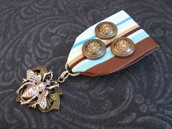 Steampunk Medal Imperial Horticulturist's by steampunksurplus, $15.00