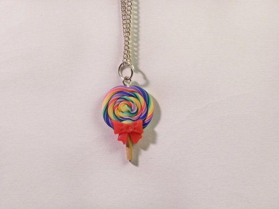 Collana rainbow lollipop lecca-lecca di AlpegFactory su Etsy