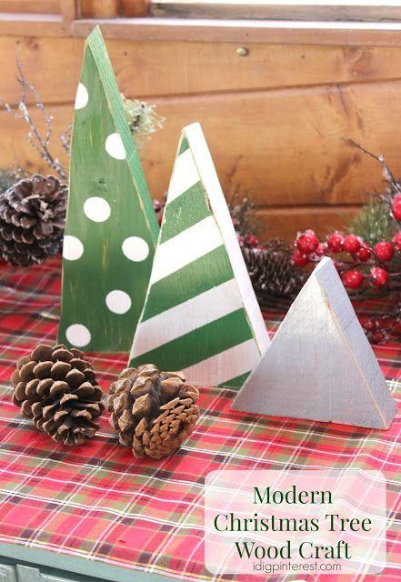 Modern Christmas tree wood craft