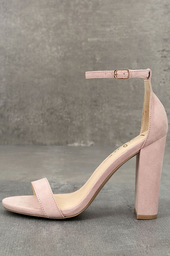 No one does it quite like the Taylor Nude Suede Ankle Strap Heels! Whether you choose to dress them up or down, these vegan suede, single sole heels will stun with their slender toe strap, and adjustable ankle strap (with gold buckle).