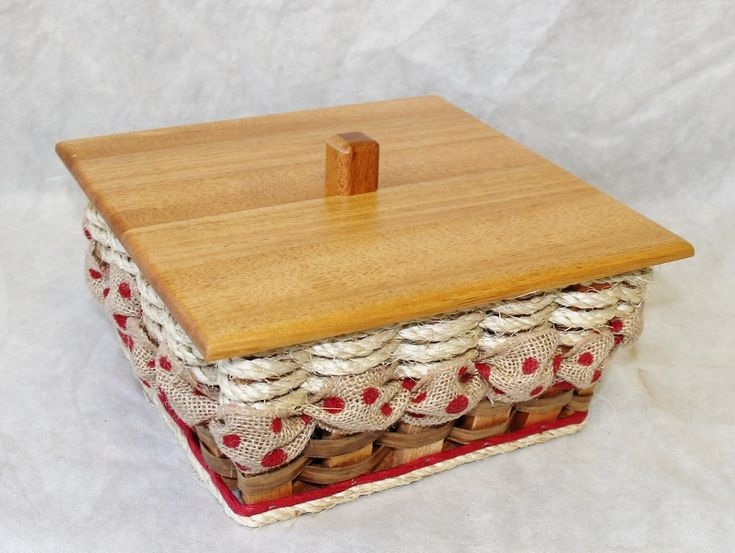 Shabby Chic Collection--Napkin Basket w/Lid