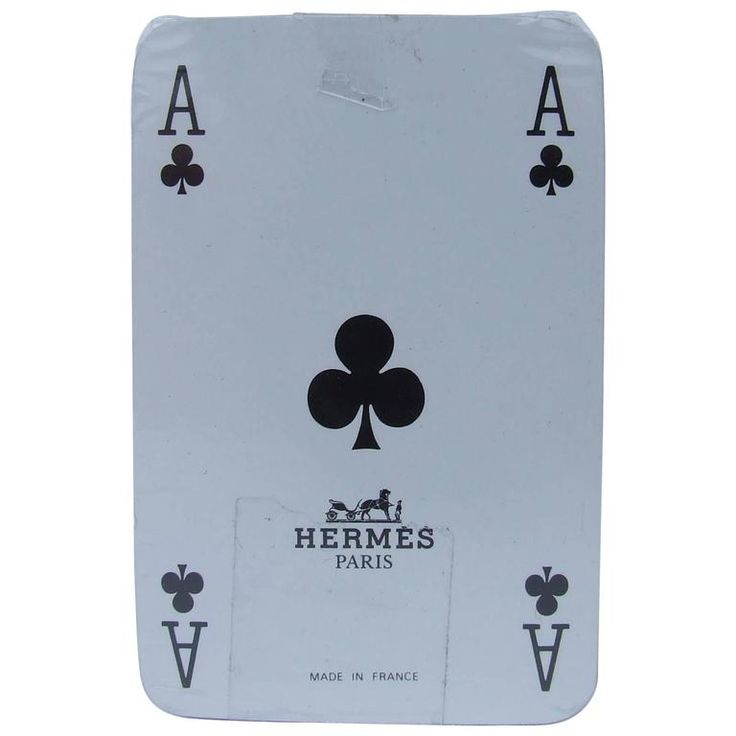 Hermes Mini Cards Game Puzzle Pattern New | 1stdibs.com