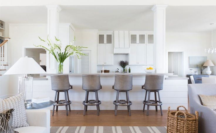 After: Clad in shiplap and hand-molded subway tiles, the new kitchen is just the right amount of nautical.