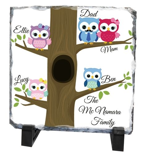 A unique and thoughtful gift for Father's Day. A Personalised Slate with a family tree. Printed specially for you with all the special details, creating a timeless keepsake. WowWee.ie | €39.99