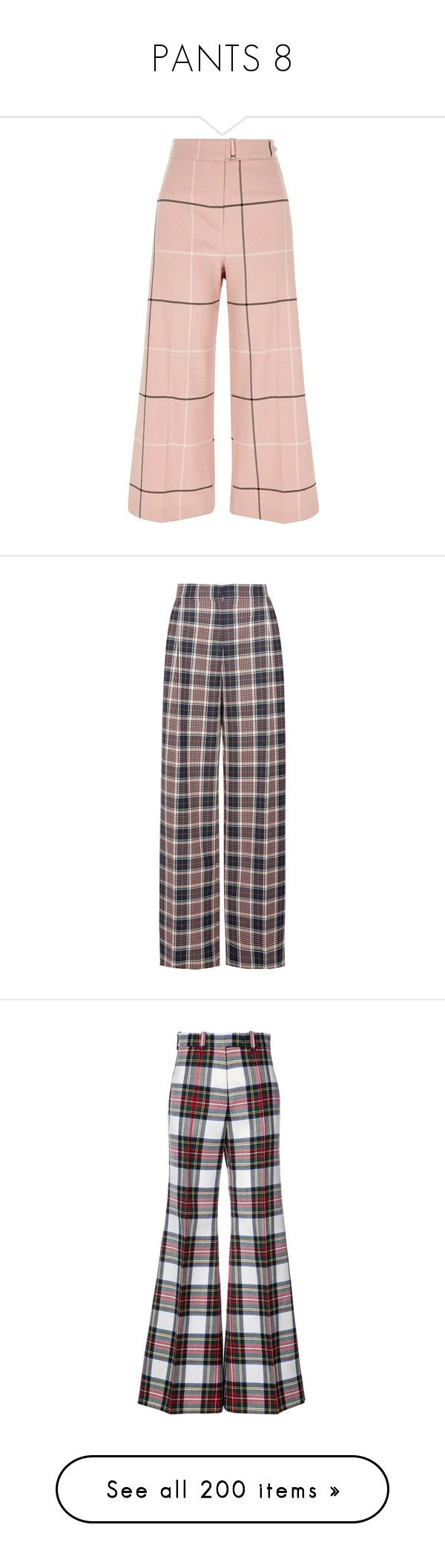 """""""PANTS 8"""" by noconfessions ❤ liked on Polyvore featuring pants, capris, pink, trousers, wide leg trousers, women, pink pants, high waisted wide leg pants, cropped capri pants and high-waist trousers"""