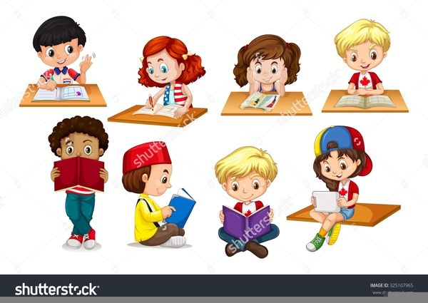Stories Clipart Kid Writing - Children Writing Clipart, Cliparts & Cartoons  - Jing.fm