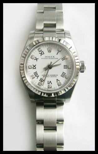 #Rolex #Oyster_Perpetual #Ladies #Watch 176234 – With white roman diamond dial! #swisswatchdealers