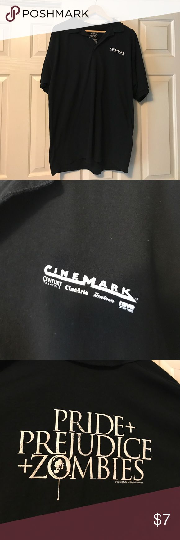 "Cinemark Polo ""Pride, Prejudice and zombies XL Cinemark polo Gildan Shirts Polos"