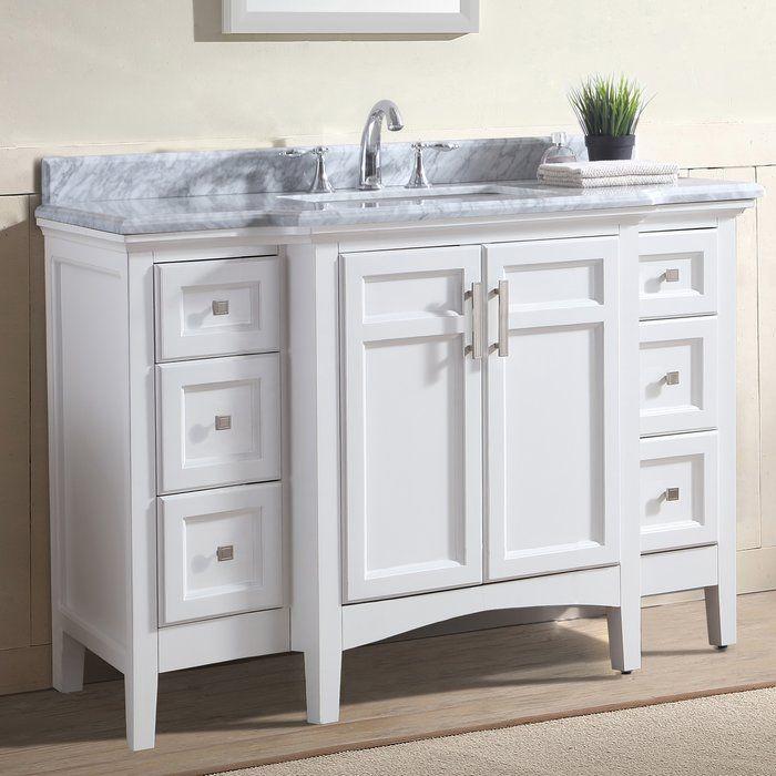Luz 48 Single Bathroom Vanity Set Single Bathroom Vanity 48 Inch Bathroom Vanity Bathroom Vanity