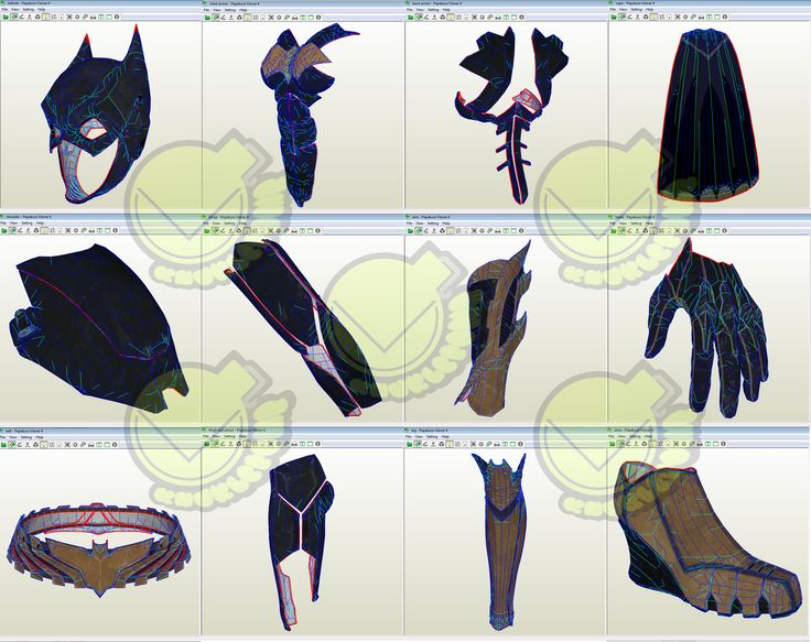 BatGirl Costume Template / Pattern Pepakura 3D Model
