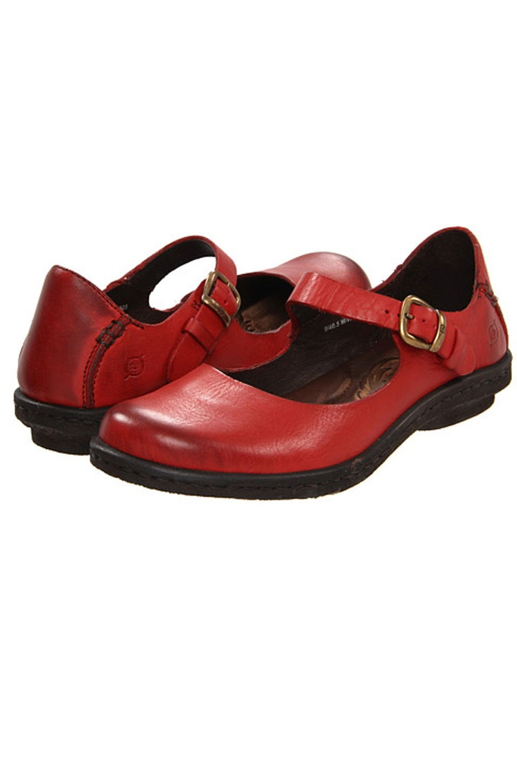 Born Aronica Mary-Jane Casual Flat In Red These are the most comfortable,  well built shoes ever