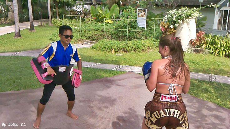 Mauy Thai Training photos in the board were took from Thavorn Beach Village & Spa, Phuket, Thailand #kalim #kamala #patong #phuket #thailand #holiday #vacation #thavornbeachvillageandspa #muaythai
