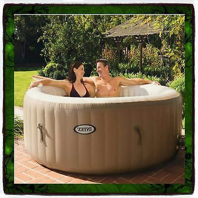 hot tub spa intex 4 person inflatable portable heated bubble soft pure massage massage tubs. Black Bedroom Furniture Sets. Home Design Ideas