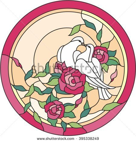 stained glass window dove