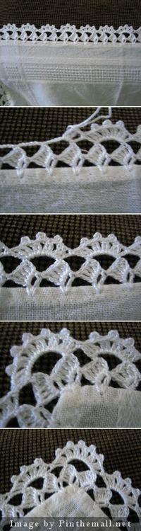 Crochet edging with corner ~~ |