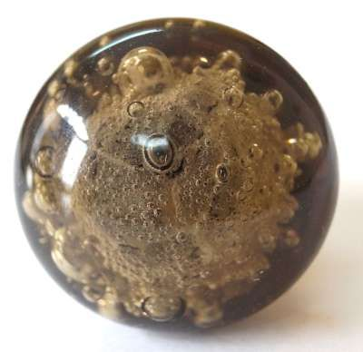 Beautifully handcrafted Smoke Bubble simple and stylish Glass Knob