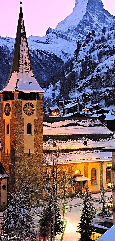 Zermatt Church,Switzerland  http://georgiapapadon.com/