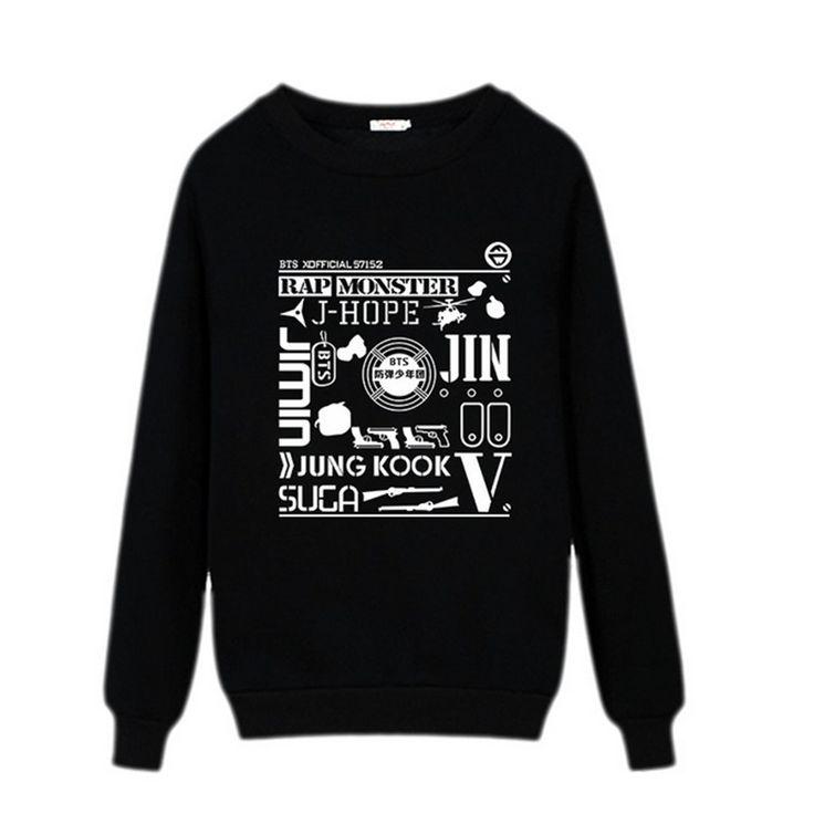 Goedkope Kpop BTS Bangtan Jongens Hoodie Vrouwen Hoodies Sweatshirts Pak Zwart wit Sweatshirt Hip Hop Kleding Damestruien, koop Kwaliteit hoodies en sweatshirts rechtstreeks van Leveranciers van China:     de grootte is Chinese Grootte, als je niet weet hoe de maat, contact met onze klanten service.  Van harte welkom om