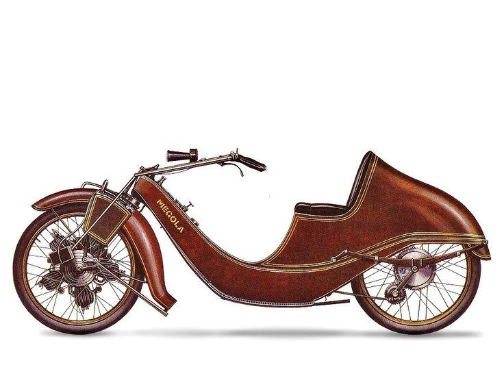 Dieses skurrile Motorrad mit dem Fünfzylinder-Sternmotor ...