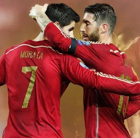 Image result for Alvaro Morata and Sergio Ramos