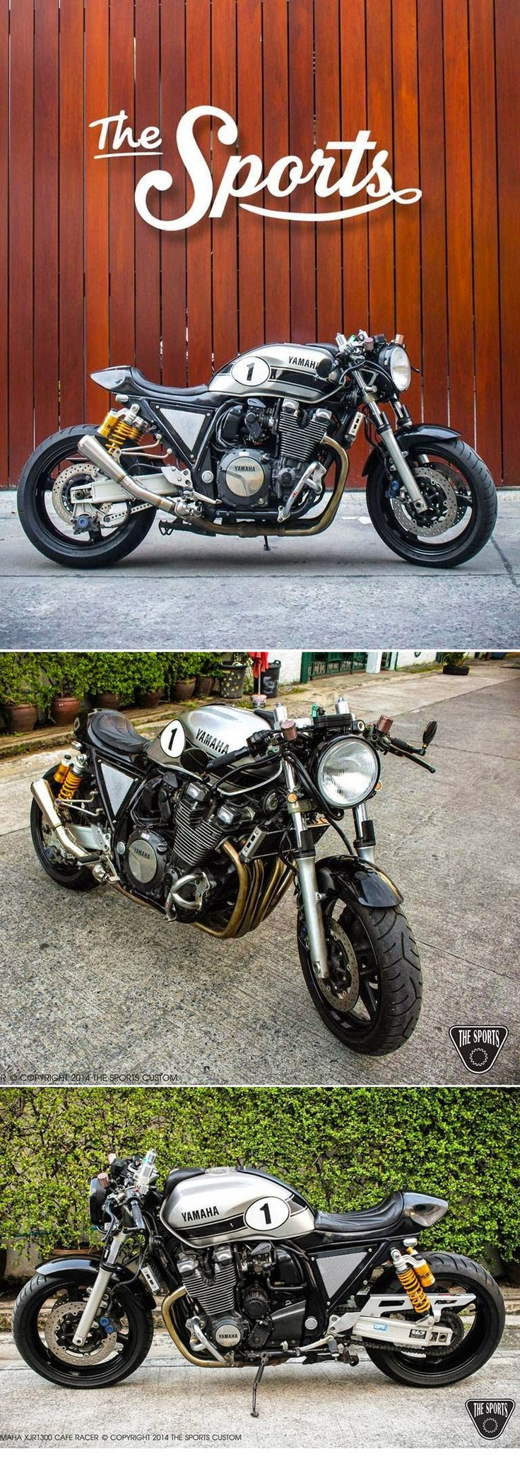 Yamaha Cafe Racer by The Sports Custom based on a Yamaha XJR1300     http://www.way2speed.com/2014/11/yamaha-xjr1300-cafe-racer.html#axzz3YCiMZAME