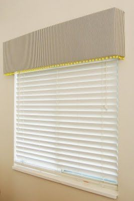 Little Green Notebook: DIY Pelmet window treatments