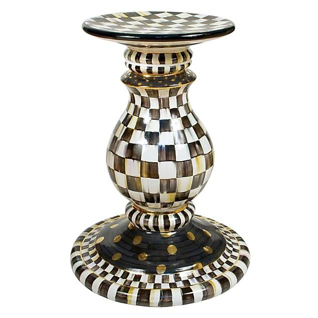 MacKenzie-Childs Courtly Check Pedestal Table Base-just add glass top