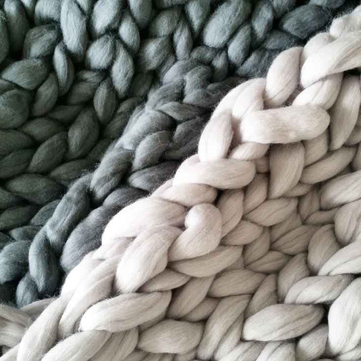Arm knit your own chunky wool throw, or use XXL needles to create this delicious look for your house.  Pure New Zealand wool kits available online now.