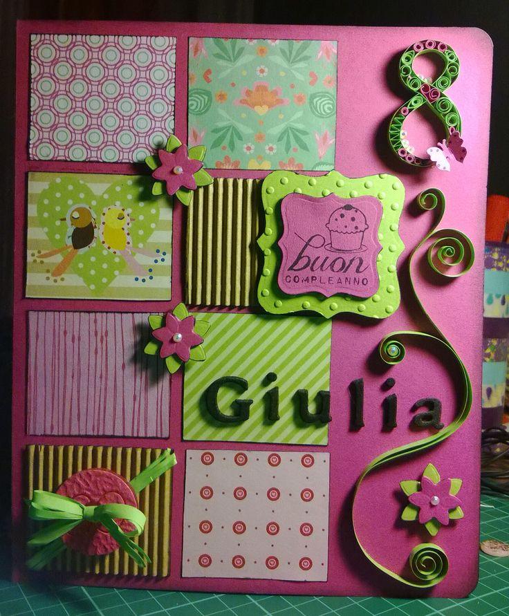 biglietto d'auguri per bimba di 8 anni! -  Birthday card for an eight years old young girl!
