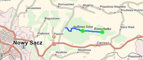 Szlak turystyczny Jodłowa Góra - Rosochatka   Korzenna - portal gminny