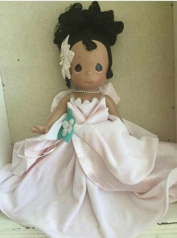 Disney Princess Tiana The Princess and the Frog Spring Precious Moments Doll