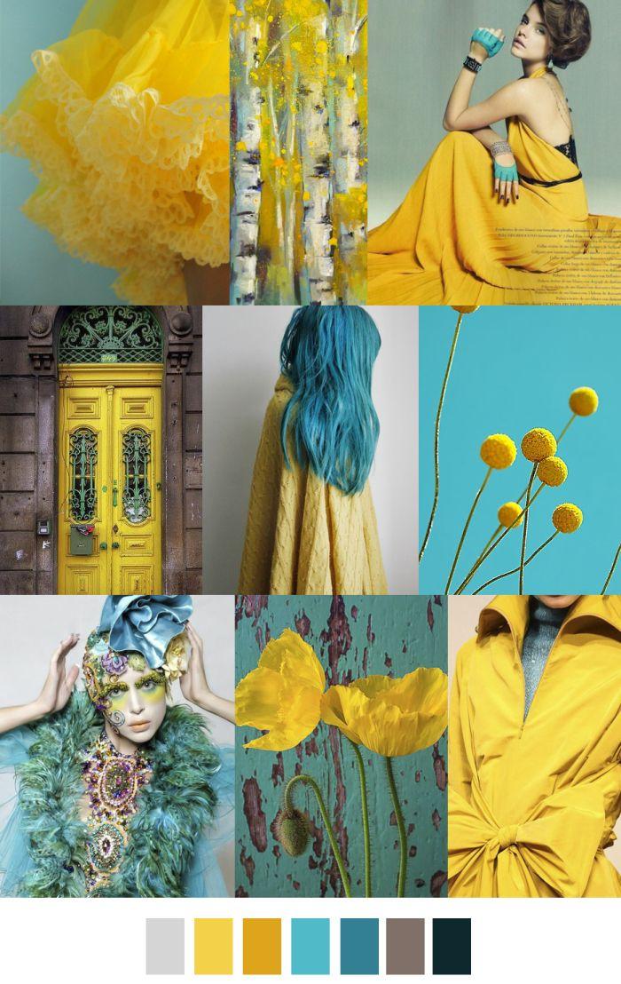 Citron e azzurro ...meraviglioso accostamento.