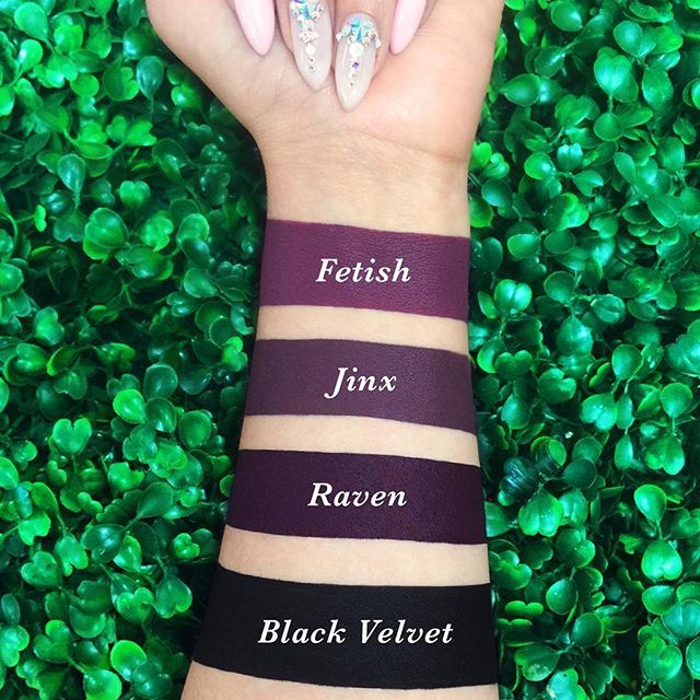 Dark, darker, darkest! Shop our most radical  shades on limecrime.com.  #limecrime #velvetines