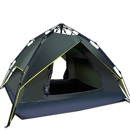 Argus Le Automatic Multifunctional Waterproof Windproof 3 Person 4 Seasons Camping Tents, Camping Family Backpacking Sun Shelter Portable Tents With Carry Bag For Camping Hiking,Beach, Green. For product & price info go to:  https://all4hiking.com/products/argus-le-automatic-multifunctional-waterproof-windproof-3-person-4-seasons-camping-tents-camping-family-backpacking-sun-shelter-portable-tents-with-carry-bag-for-camping-hiking%ef%bc%8cbeach-green/