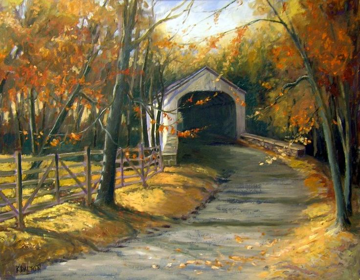 36 Best Images About Beautiful Covered Bridges Paintings