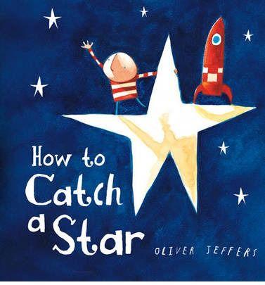 How to Catch a Star - Oliver Jeffers;Varsta: 2+;  Odata e existat un baiat si baiatul iubea foarte mult stelele.  Atat de mult incat a decis sa una dintre le. Dar cum? Nu era suficient de inalt. Si-a construit o naveta din hartie si...