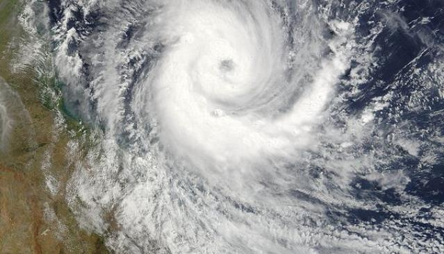 Cyclone Larry 2006 (Jeff Schmaltz NASA) Read about it at: http://www.emknowledge.gov.au/resource/?id=448