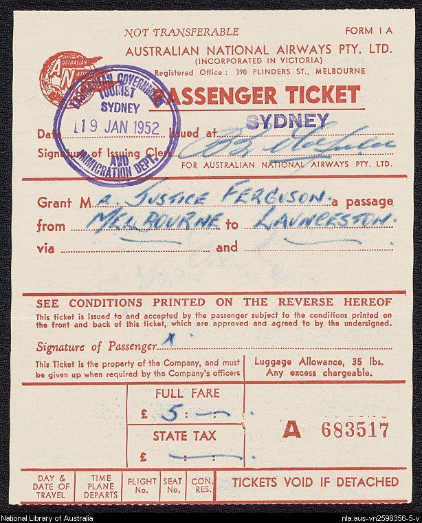 Airline ticket.